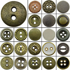 Pack Of 140 Pieces Metal Craft Round DIY Buttons Wholesale Sew Accessories 10 mm