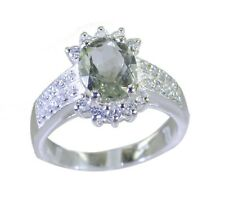 Green Amethyst 925 sterling silver goodly exporter Ring Green L-1.2in UK K,M,O,Q