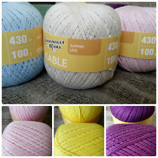 "100% Cotton Yarn ""Kable"" Crochet Knitting Lot 2 Big Skeins 200g(7oz)-860m Russia"