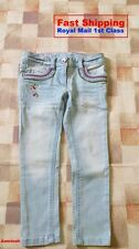 BNWT NEXT GIRLS' SKY BLUE BUTTERFLY JEANS 4 YEARS 5 YEARS