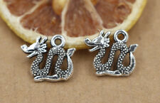 6/30/150 PCS Tibet silver beautiful dragon 11x14mm charm pendant jewelry