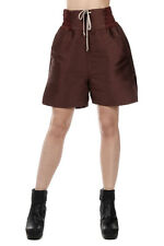 RICK OWENS New woman blood Cotton Blend plain BOXER bermuda Pants Made in Italy