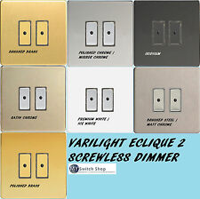 Varilight Eclique 2 Dimmer 2 Gang Screwless All Finish