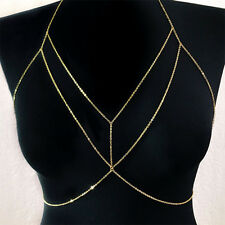 Silver/Gold Plated Sexy Body Chains Crossover Harness Belly Waist Necklace