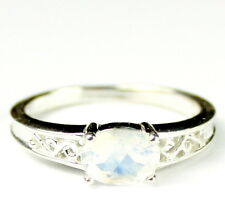 Rainbow Moonstone, 925 Sterling Silver Ring, SR362-Handmade