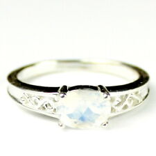 Rainbow Moonstone, 925 Sterling Silver Ladies Ring, SR362-Handmade