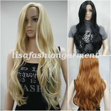 Fashion Wig Natural Curly Straight Wavy Fancy Dress Womens Ladies Hair Wig