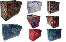 2 (TWO) x Very Large Laundry Storage Moving Zip Top Bag Picture Design Huge Big