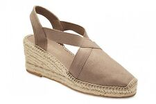 NEW Easy Steps Elise Taupe Espadrilles  Wedges Women Shoes Wide Fit C-Fit