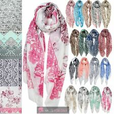 LADIES NEW PAISLEY ROSE FLORAL PATTERN PRINTED VISCOSE SHAWL WRAP SCARF