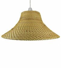 Lighting Natural Core Brown Coolie Wicker Lampshades