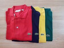 NEW MENS LACOSTE POLO TSHIRT, CLASSIC FIT. Red/N. Blue