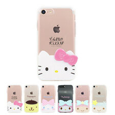 Hello Kitty 3D Edge Cutie Jelly Slim Thin Bumper Cover Case For Apple iPhone 7