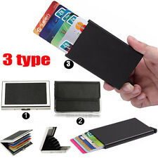 Premium Mini Business ID Credit Card Wallet Holder Aluminum Pocket Case Box