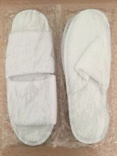 DISPOSABLE SPA TERRY SLIPPERS ONE SIZE WHITE