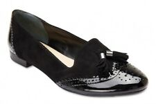 NEW Sandler Trudy Black Patent/Suede Leather Loafer Womens Shoes