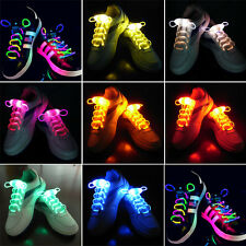 LED Shoelaces Shoe Laces Flash Light Up Glow Stick Strap Shoelaces Disco Party .