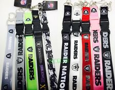 NFL Oakland Raiders keychain Lanyard - Pick Your Color!
