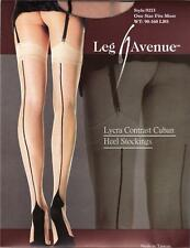 Sex y Lycra Sheer Contrast Cuban Heel Seamed Stockings - Vintage Fully Fashioned