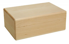 Walnut Hollow Roomy Box with Hinged Lid Unfinished Wood for Arts, Crafts, Hobbie