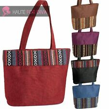 Womens Large Tote Bag Tribal Panel Hippy Purse Beach Bag Summer Canvas Boho