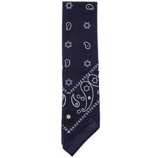 GET IT NOW Navy Paisley Bandana  in Blue
