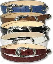 JOB LOT OF BRAND NEW LADIES BELTS 5 COLOURS GOOD SIZES CAR BOOTS, RETAIL SHOPS