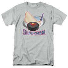 Superman HOCKEY STICK Licensed Adult T-Shirt All Sizes