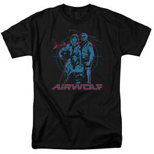 Airwolf TV Show Cast GRAPHIC Licensed Adult T-Shirt All Sizes