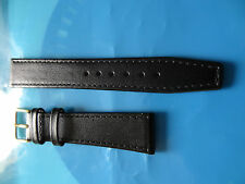 Genuine Calf Leather Watch Strap, Matt Finish, Stitched Edge, 8mm to 22mm.