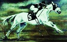 GICLEE HORSE PRINT RACE Art RACEHORSE #5 artist BETS 6 COLORS print size 14 X 20