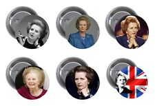 MARGARET THATCHER Pin / Button Badge 25mm, 38mm, 45mm, 58mm, 77mm