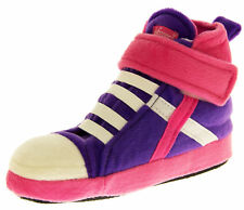 Girls Boys Kids High Hi Top Trainers Shoes Comfy Padded Boot Slippers Size 9 10