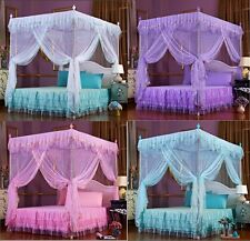 Princess Lace 4 Corner Post Bed Canopy Mosquito Netting Twin Queen King Size