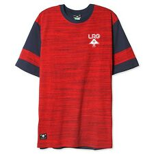 NEW LRG RC PLAYOFF SS KNIT TEE SHIRT - RED J171009