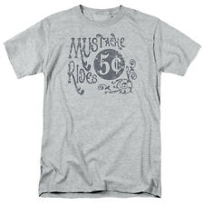MUSTACHE RIDES 5 CENTS Humorous Adult T-Shirt All Sizes
