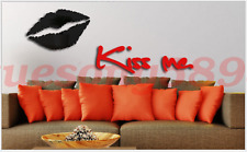 Living Room TV Wall 3D Crystal Stereo Wall Stickers Wall Stickers Red Lips