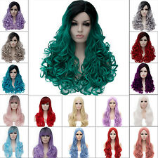 Lot Natural Curly Straight Wavy Fancy Dress Fashion Womens Ladies Hair Cosplay