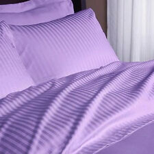 1200 Thread Count Egyptian Cotton 3 PC's Duvet Set Lavender Stripe