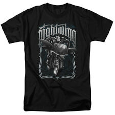 Batman NIGHTWING BIKER Motorcycle Licensed Adult T-Shirt All Sizes