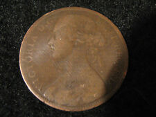 1861 Great Britain United Kingdom Penny NICE COIN