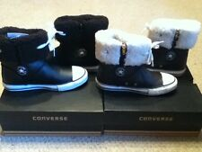 CONVERSE KIDS BOOTS SHOES, CT ANDOVER LEATHER BOOTS HI BLACK BROWN UK 13.5 - 2.5