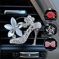 Car Bling Air Freshener Vent Clips, Crystal Car Decoration Interior Accessory