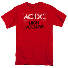 ACDC AC-DC Rock Band HIGH VOLTAGE STENCIL Licensed Adult T-Shirt All Sizes