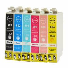 6 printer cartridges Ink Cartridges compatible with Epson T0801 -T0806