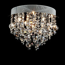 Clear Crystal Ceiling Light Chandelier Flush Mount Lamp Pendant Light Hallway