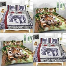 Luxury Animal 3D Printed Duvet Quilt Cover With Pillow Case Bedding Set All Size