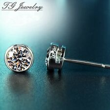 1.00ct Round Brilliant Cut Moissanite 14k Gold Stud Earrings 5 mm 0.5 ct each