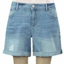 New Ex M&S Ladies Ripped Casual Mid Denim Shorts Mid Rise Size 10 - 18