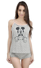 Juniors 2 Pc Mickey Mouse Cami Top Shorts Pajama Set